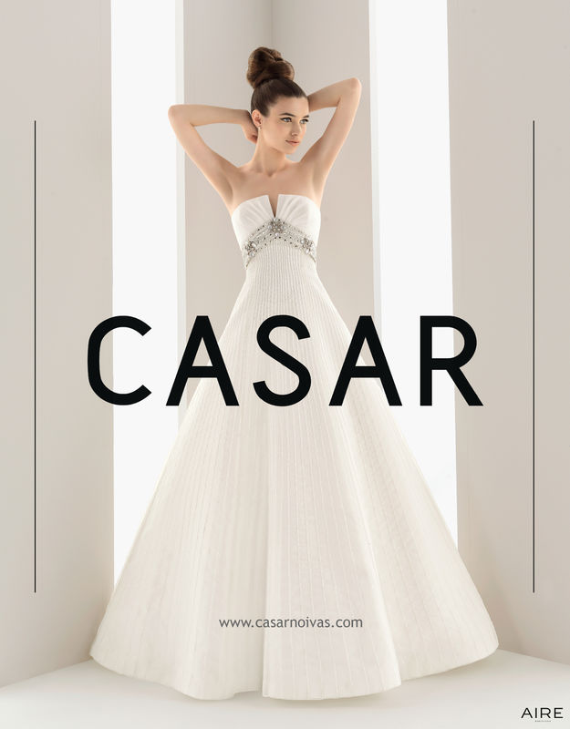 Vestido de noiva NUEZ -AIRE BARCELONA