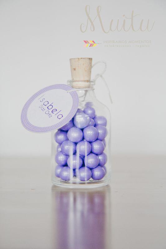 Recordatorios bolas chocolates cubiertas de dulce de colores