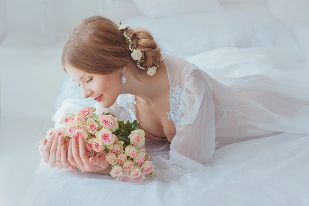 Нежное утро невесты Лизы.