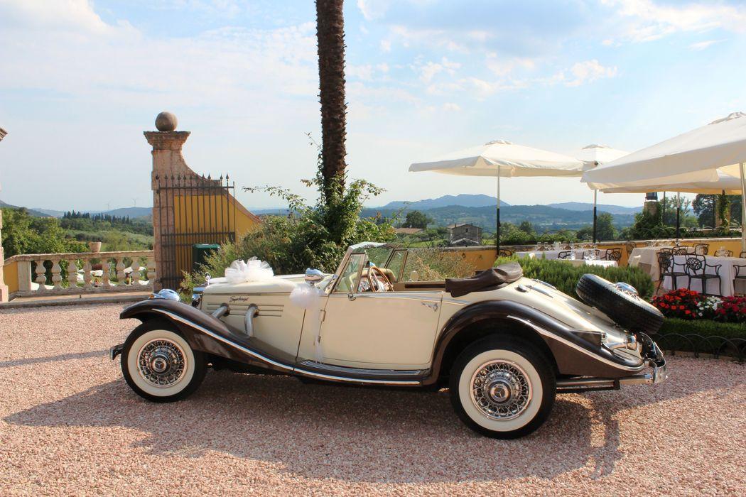 Auto nuziale in Villa Cariola