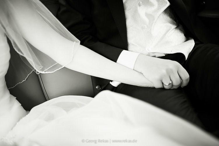 Beispiel: Brautpaar bei der Trauung, Foto: Georg Rekas.