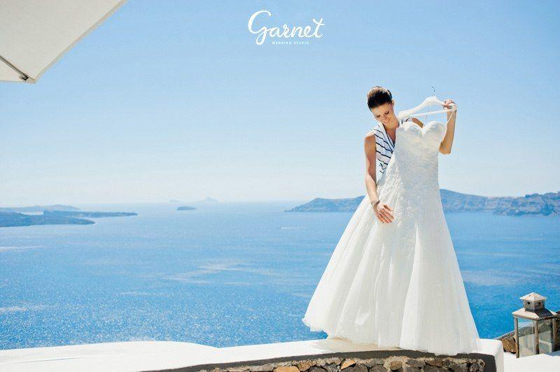 Организация Свадеб на Санторини . Garnet