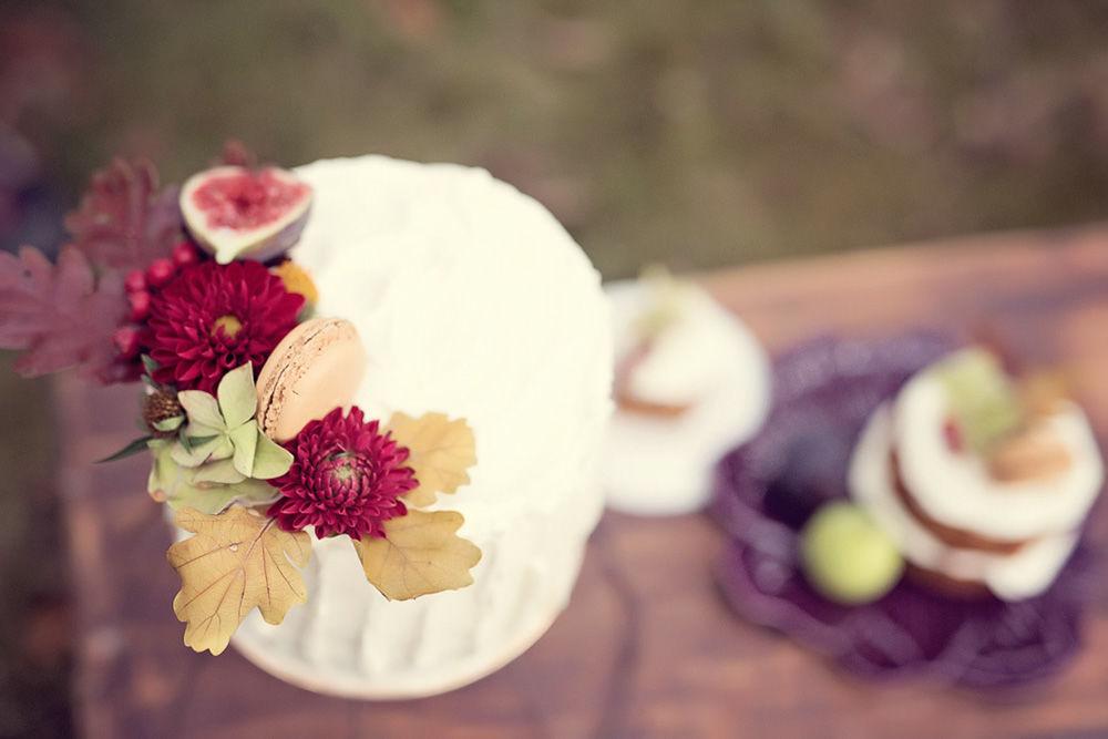 Bolo de Outono: avelã com compota de figo   Foto: Pedaços de Luz Fotografia