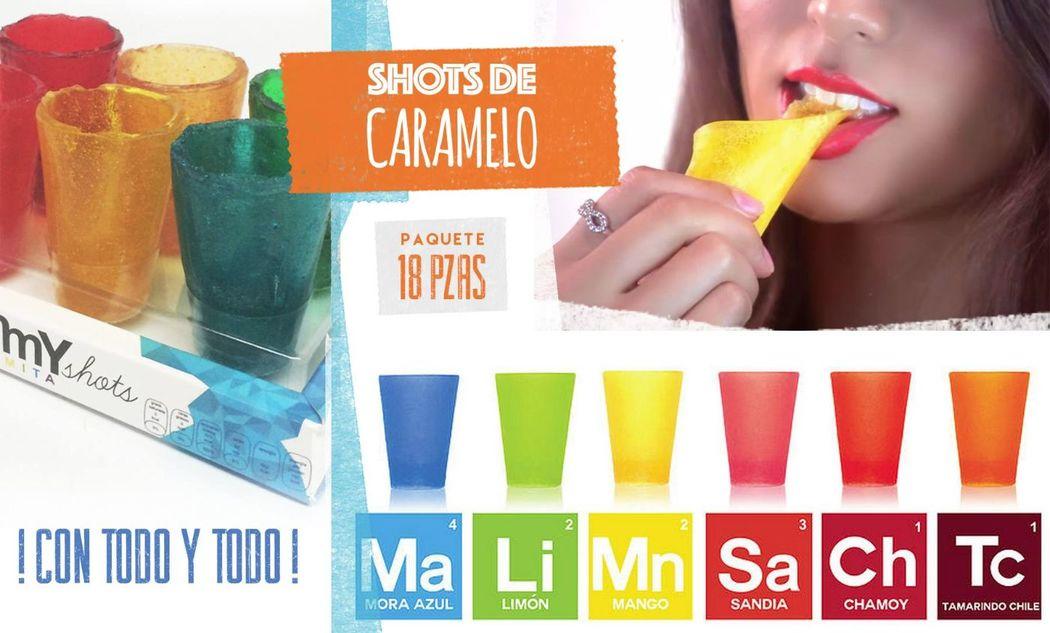 Shots de Caramelo y Gomita