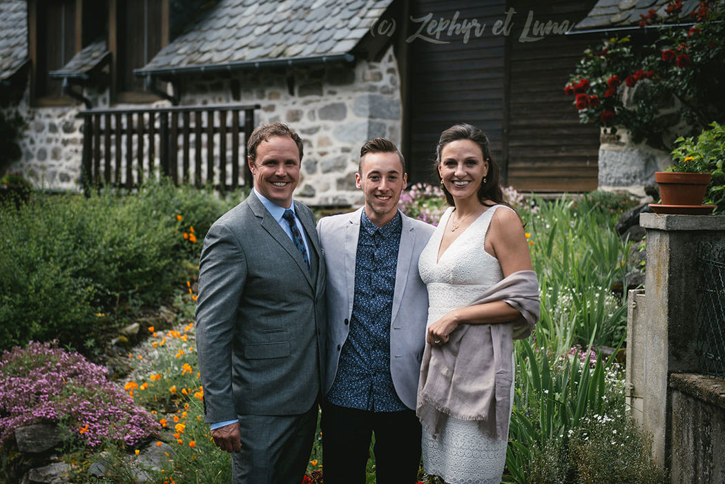 Genevieve & Jay - The couple and Jonathan, their wedding planner