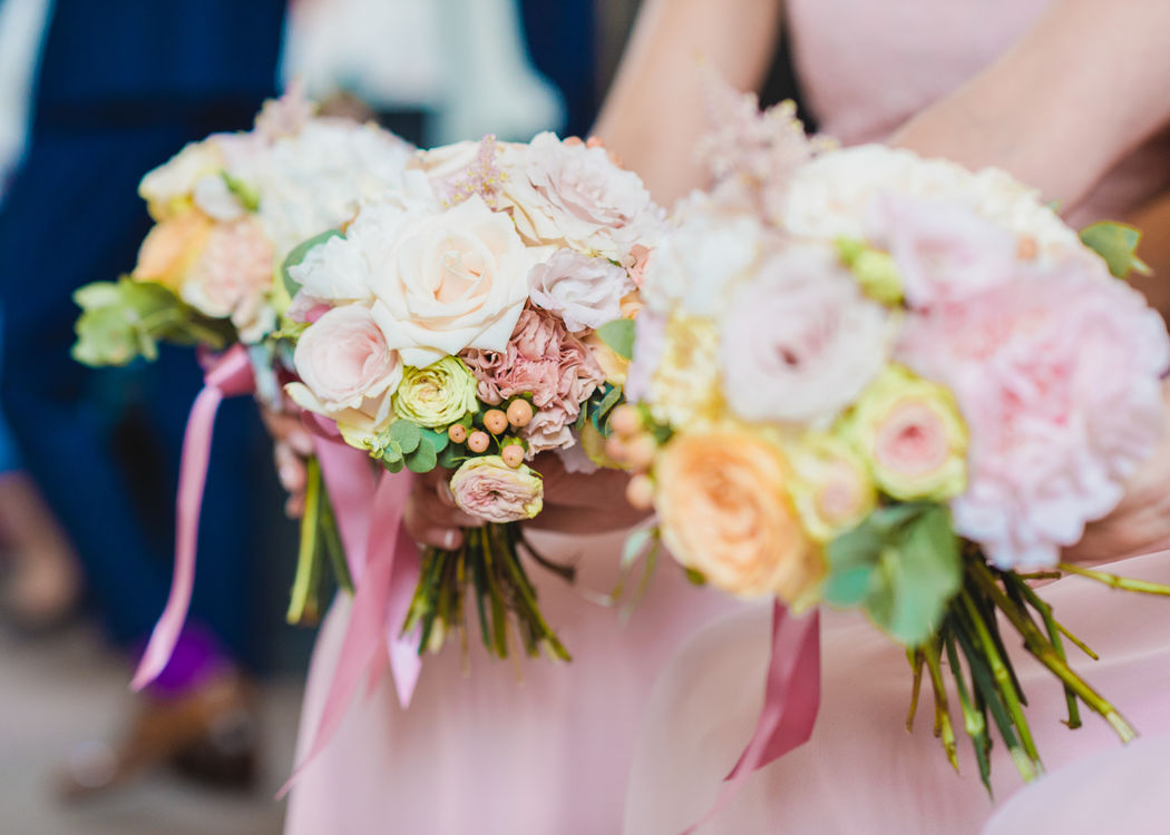 Bridesmaids Bouquets Foto: Seel Hochzeitsfotografie