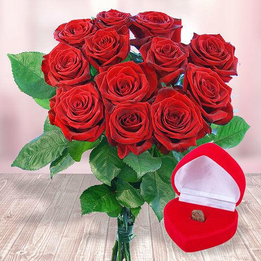 Beispiel: 12 rote Rosen und eine eigene