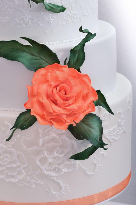 Orange Rose Cake Blume