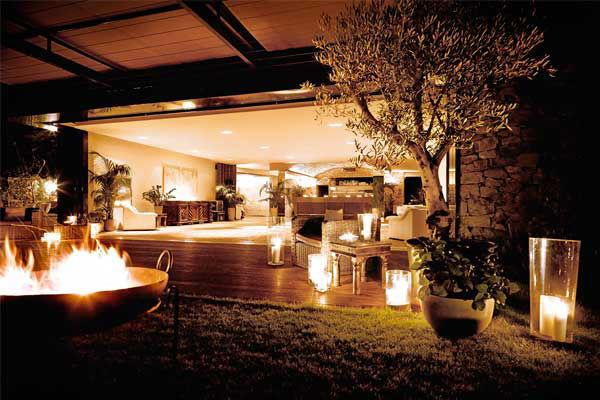 Beispiel: Ambiente mit Licht, Foto: Weingut am Reisenberg.