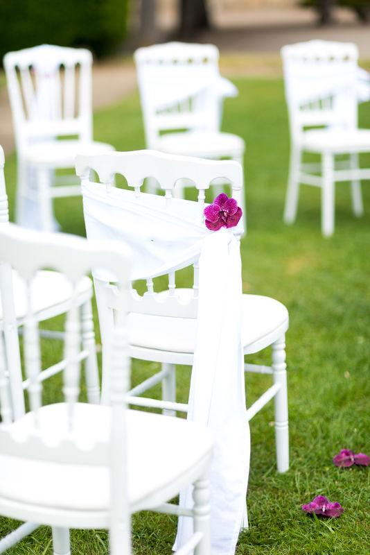 Allée de cérémonie décor de chaise