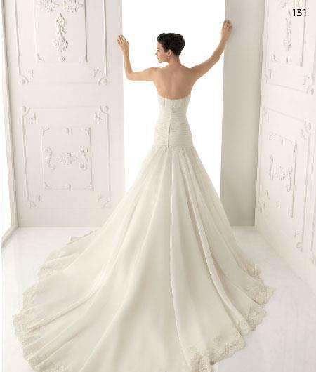 Beispiel: Elegante Brautkleider, Foto: Endam Mode.