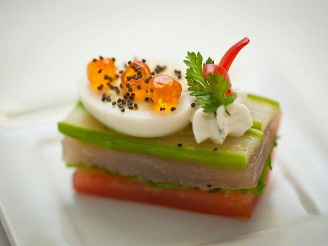 Mille Feuilles de Légumes & Thon Fumé