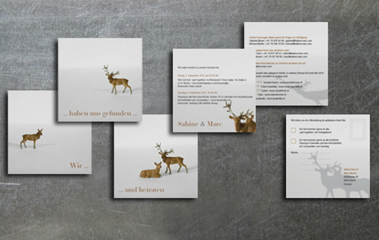 Beispiel: Einladungskarten zu Hochzeit - Wir haben uns gefunden, Foto: tellme.