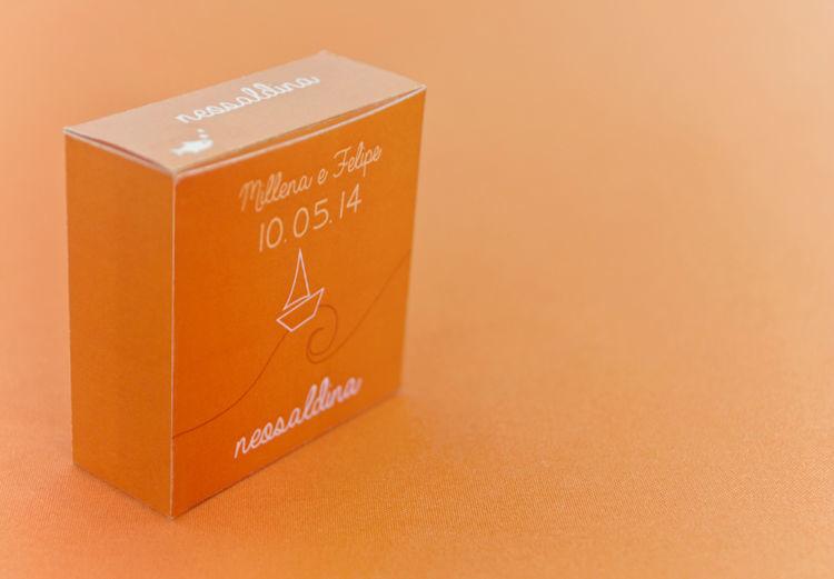 Embalagem personalizada para o kit toilette.