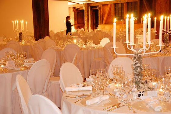Beispiel: Hochzeitsbankett, Foto: Stapel - Feines Catering.