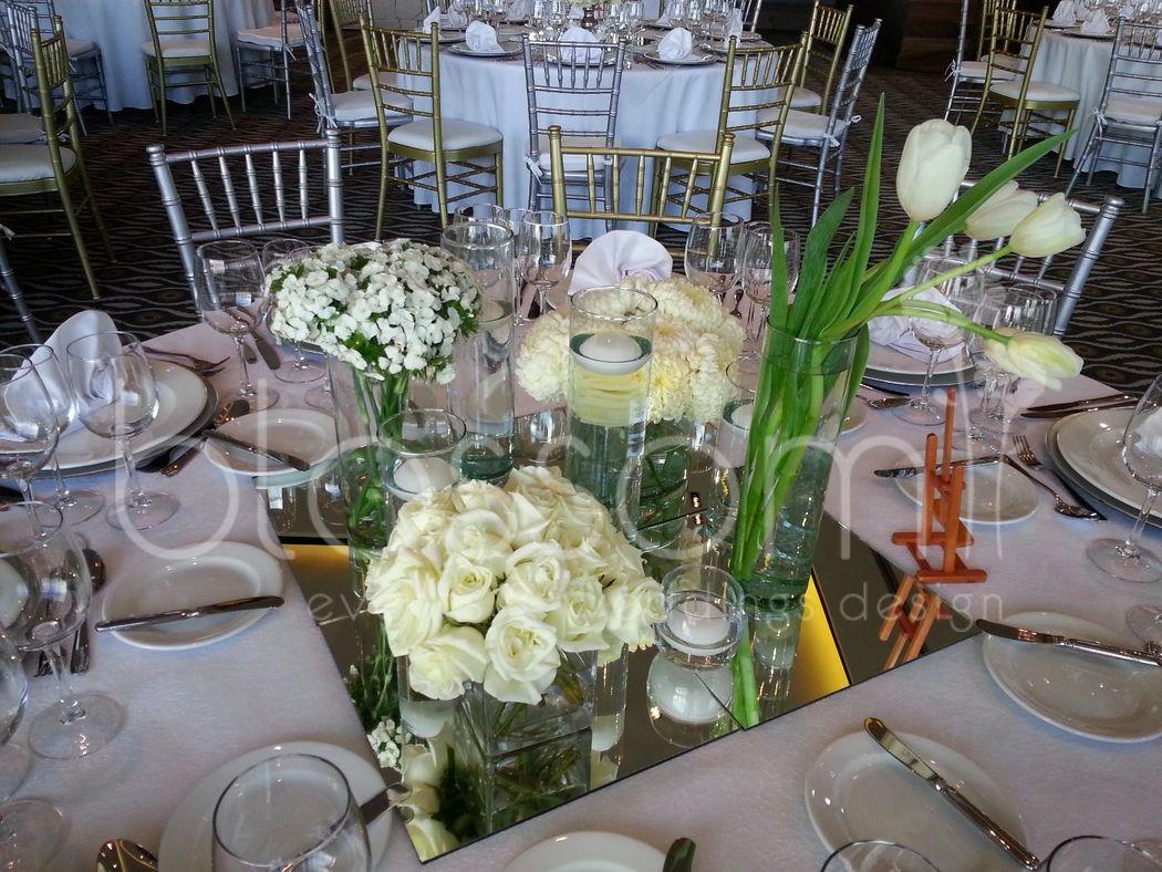 Exquisitos centros de mesa para tu boda