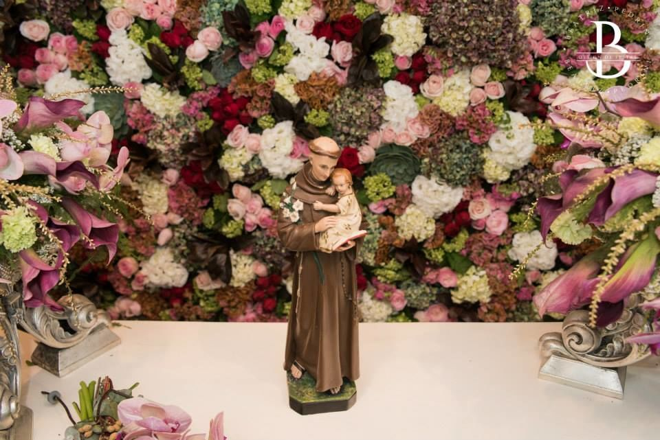 Wedding- Detalhe: Painel floral altar
