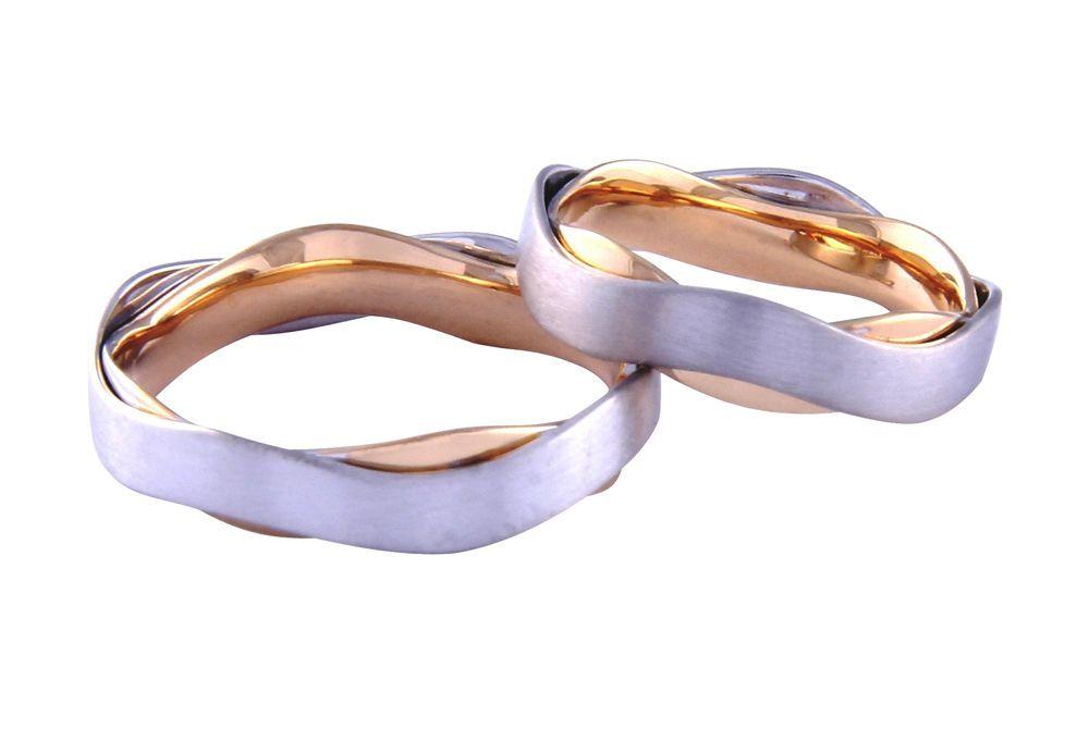 Alianças Casamento Bicolores ALBIC132B