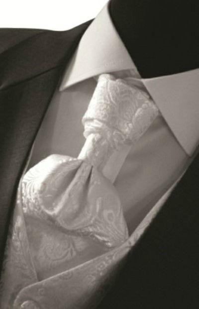 Beispiel: Plastron und Weste, Foto: Romeo Fashion.