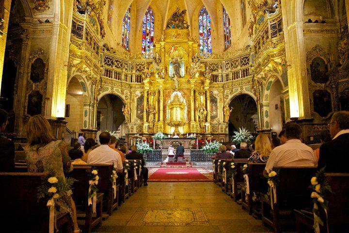 Beispiel: Kirchliche Trauzeremonie auf Mallorca, Foto: T'estim.