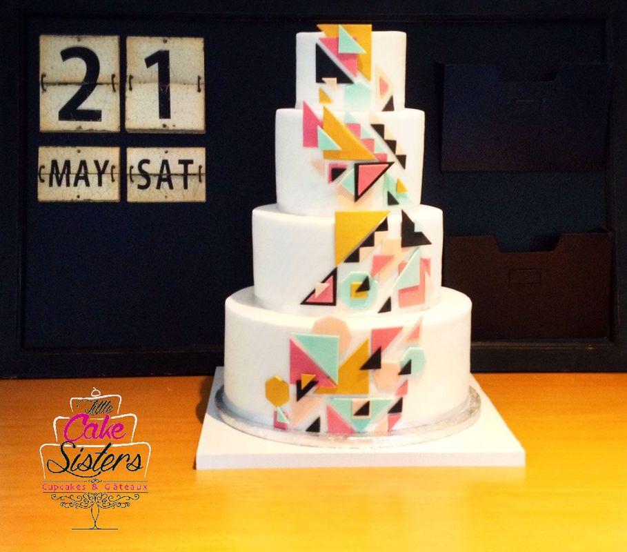 wedding cake géometrique