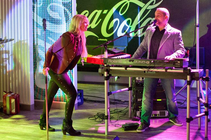 Beispiel: Als Musikduo, Foto: Dirk Baumbach Live.
