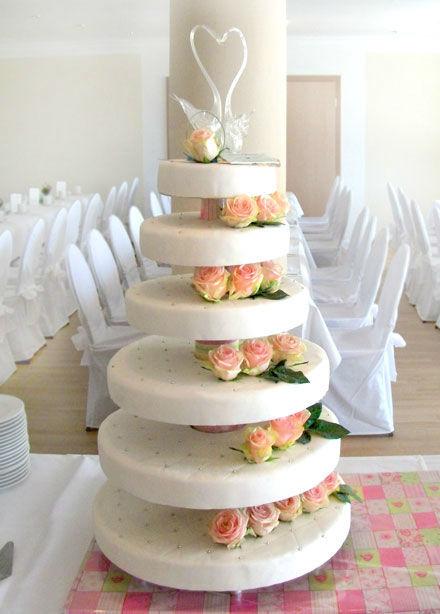 Beispiel: Wunderschöne Hochzeitstorten, Foto: Tortenatelier Harrecker.