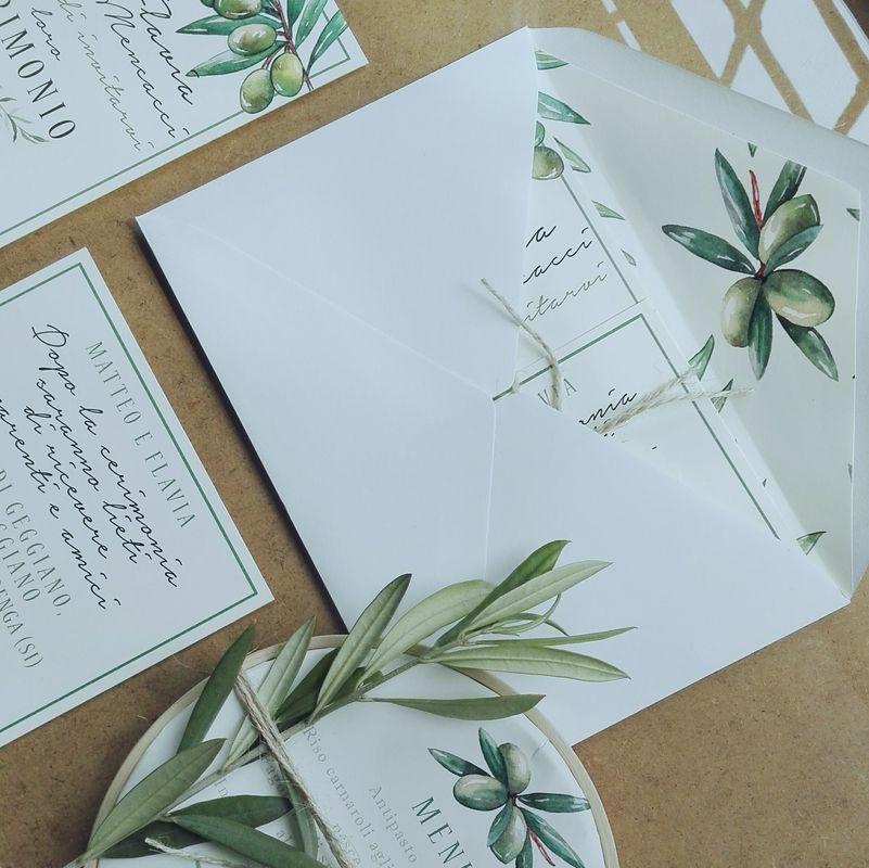 Botanical Olive stationary