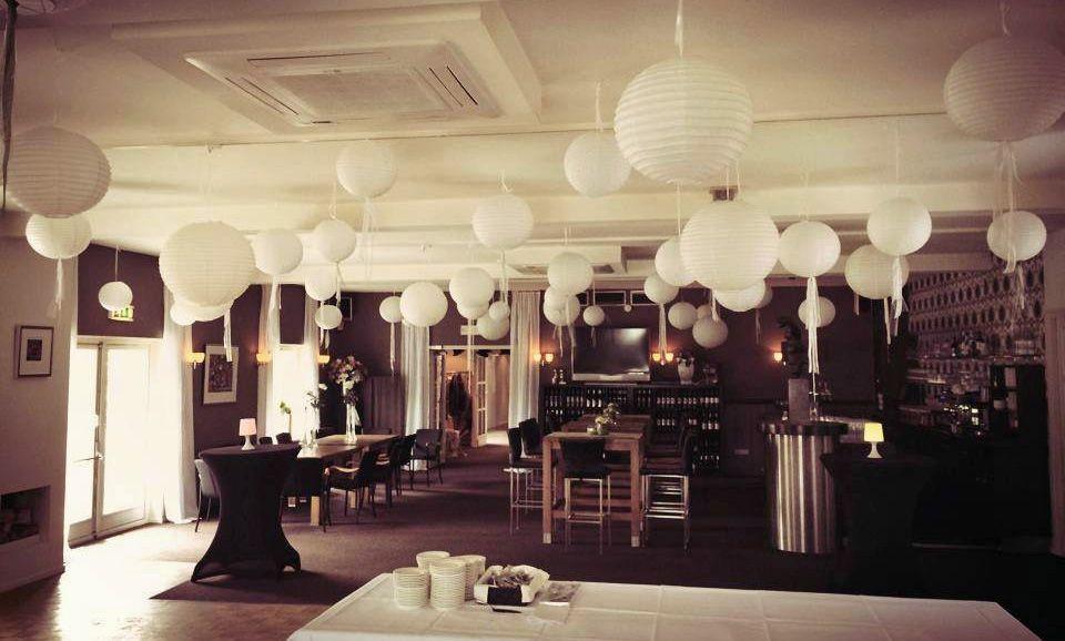 Grand-Café versiering naar eigen wens van het Bruidspaar