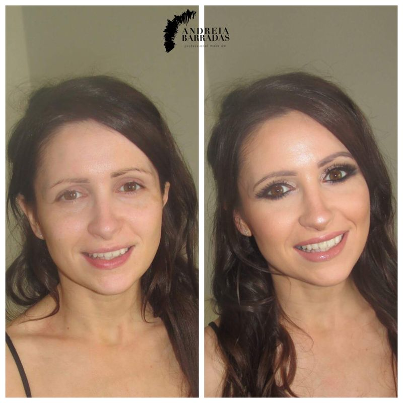 Filha da noiva antes e depois