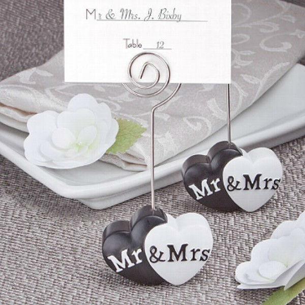Beispiel: Tischkartenhalter, Foto: Make my day - Der Hochzeitsshop.