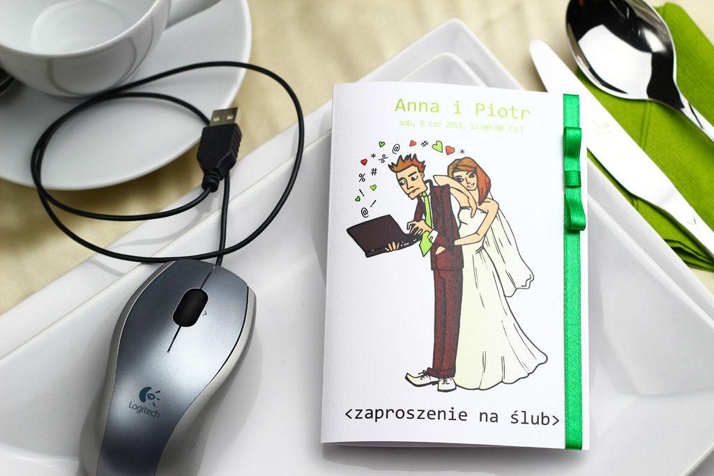 Zaproszenie ślubne dla informatyka
