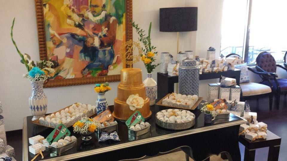 mesa do bolo e de gifts