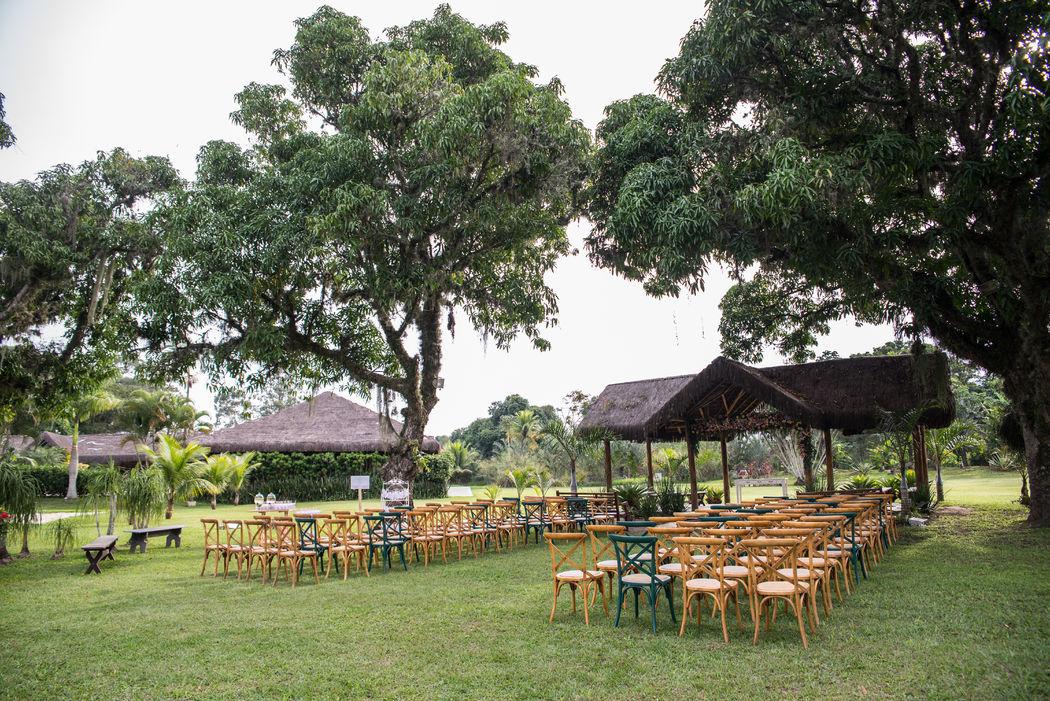 Cerimônia lindeza ao ar livre