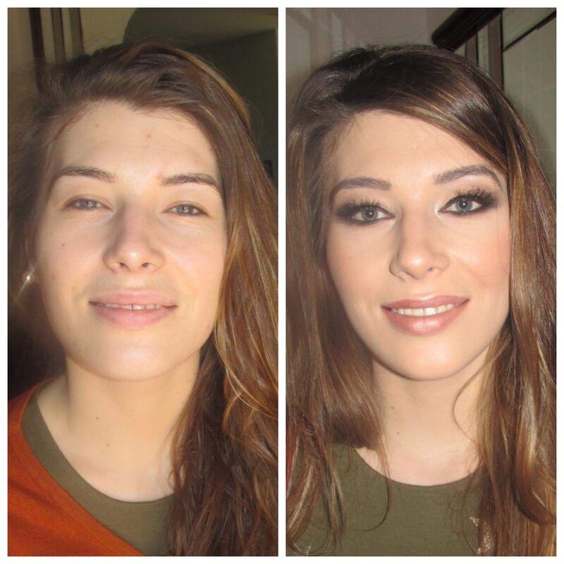 Convidada antes e depois