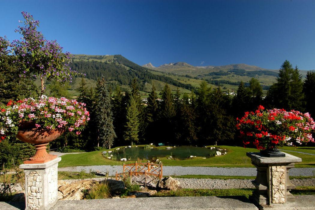 Beispiel: Gartenanlage, Foto: Hotel Villa Post.