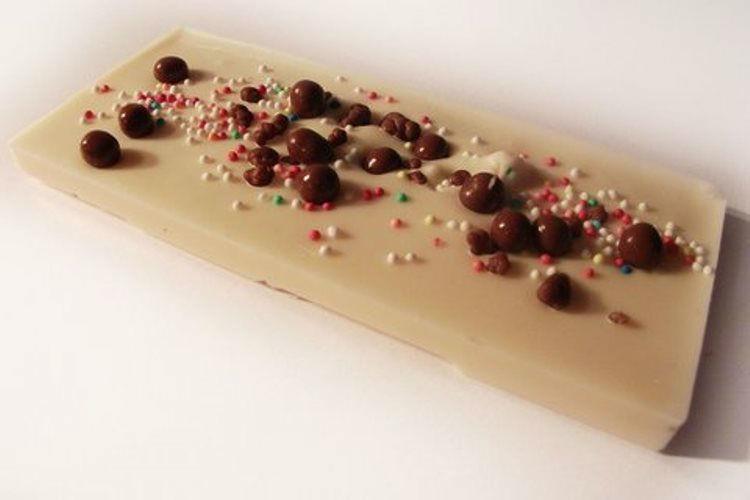 Beispiel: Schokolade als Gastgeschenk, Foto: Tortenatelier Harrecker.