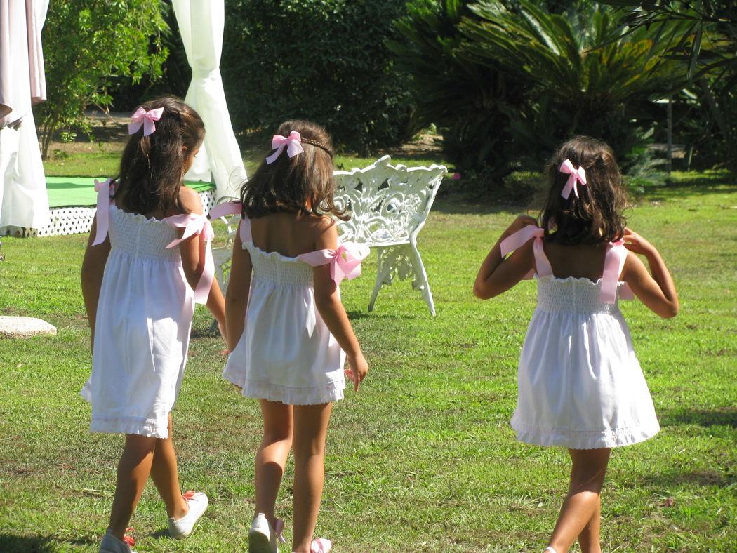 Crianças no jardim