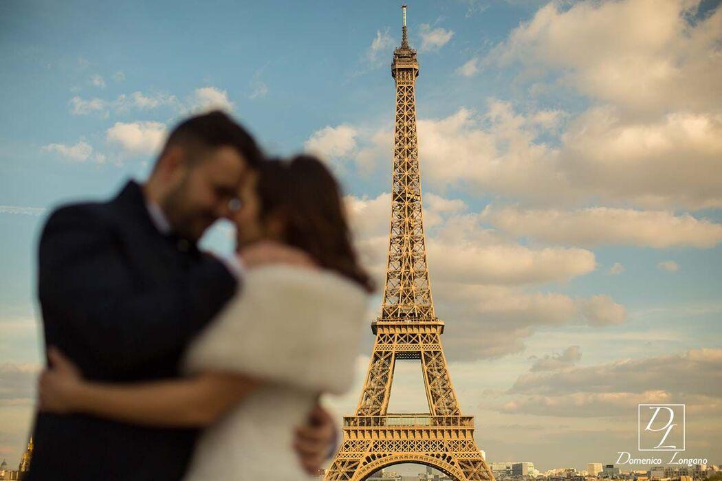 Sposi e tour Eiffel