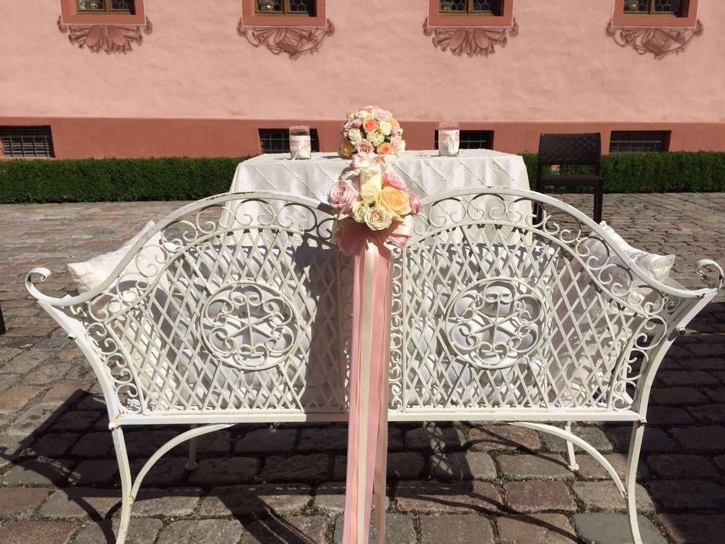 Brautbank: sorbet/rose