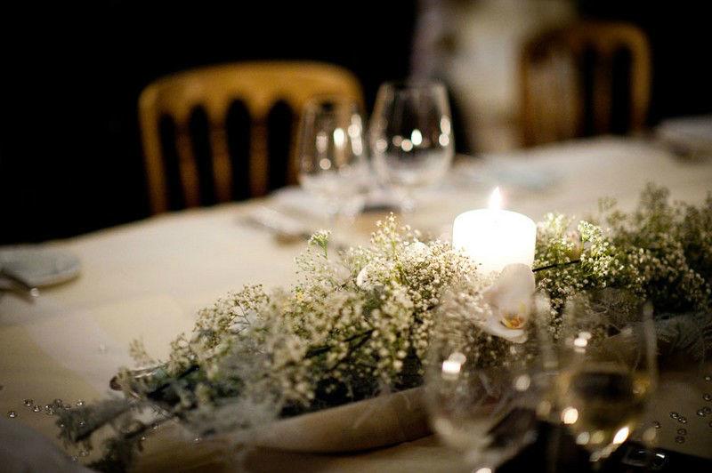 Beispiel: Tischdekoration, Foto: Die Blumenfabrik.