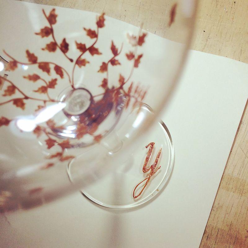 Taça Outono de vinho