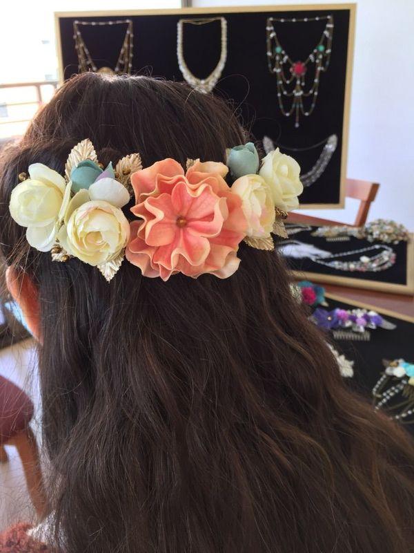 Media Corona de flores mediana