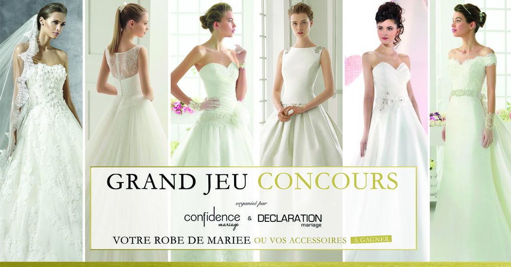 Jeu Concours Déclaration Mariage - Votre robe de mariée à gagner !