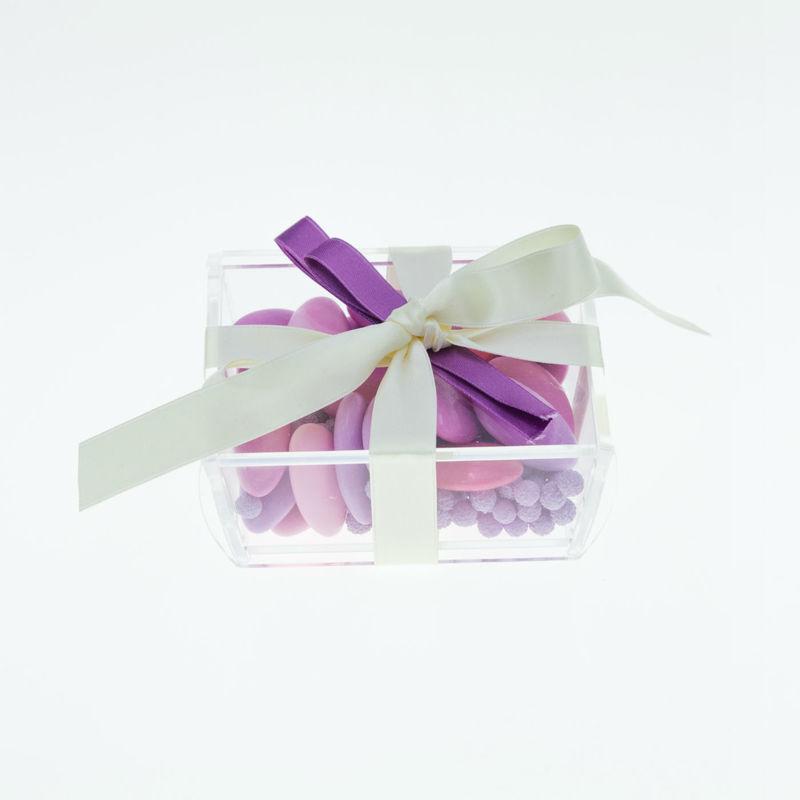 Plexiglas Gastgeschenk für die Hochzeit, farbige Zuckermandeln