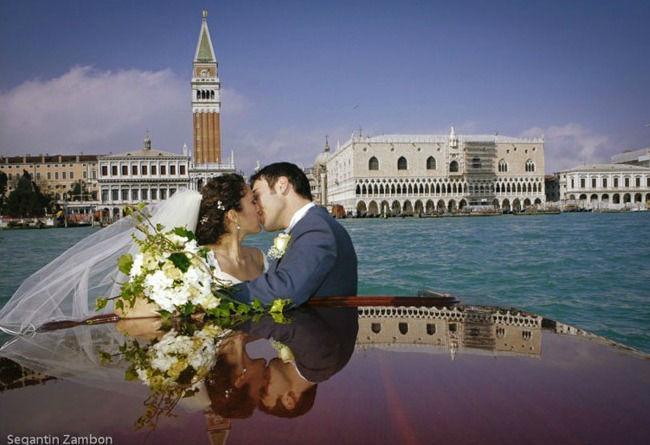 Matrimonio davanti San Marco a Venezia