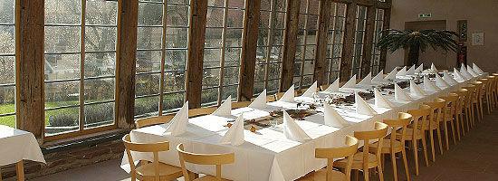Beispiel: Hochzeitstafel, Foto: Kloster Bronnbach.