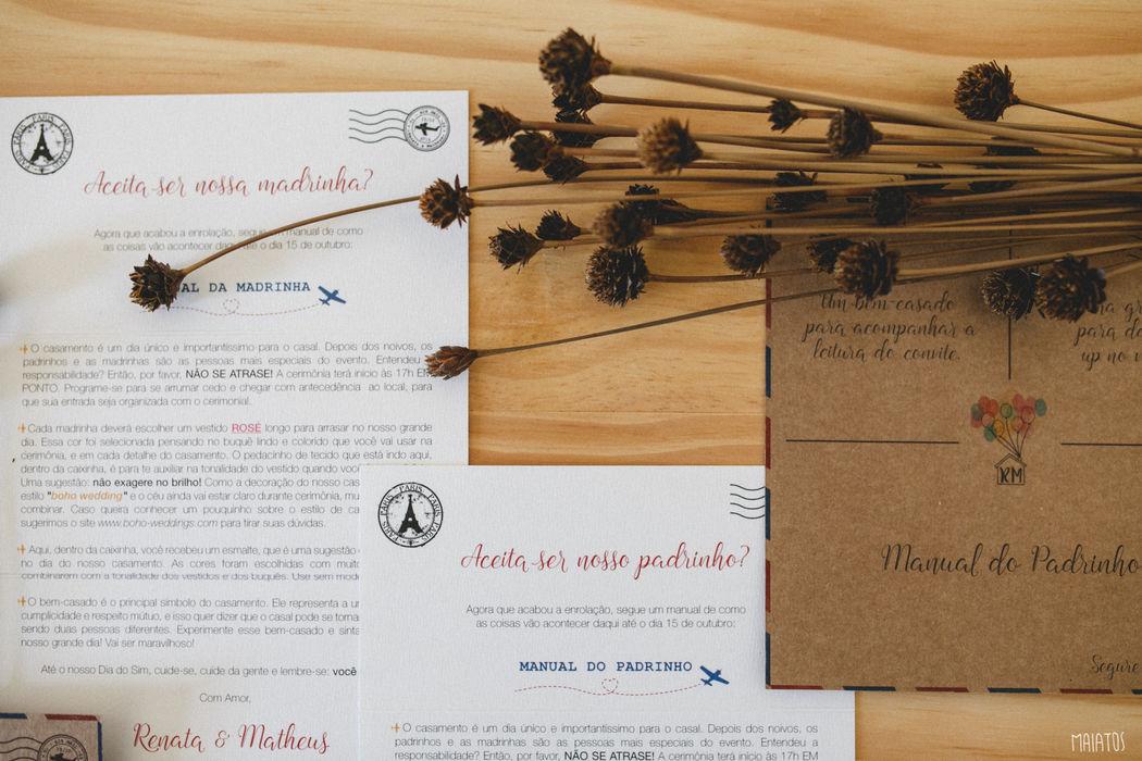 Convite padrinhos Renata e Matheus  ~ Foto: Maiatos Fotografia