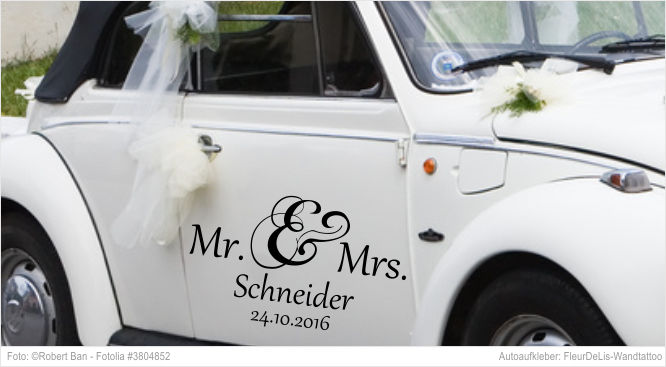 Autoaufkleber - Mr. & Mrs.