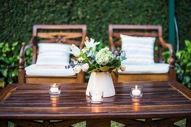 Arranjos centro de mesa com cerâmica Ateliê Varanda
